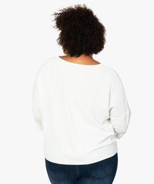 Blouse femme ample à col V et manches 3/4 vue3 - GEMO (G TAILLE) - GEMO