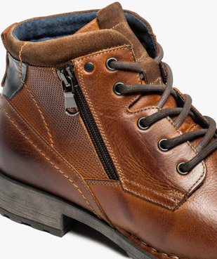 Boots homme style workwear vue6 - GEMO (CASUAL) - GEMO