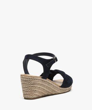 Sandales femme à talon compensé en corde vue4 - GEMO(URBAIN) - GEMO