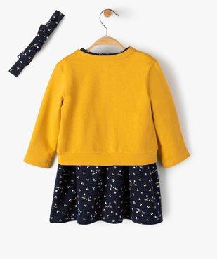 Ensemble bébé fille 3 pièces : robe + gilet + bandeau vue5 - Nikesneakers(BEBE DEBT) - Nikesneakers