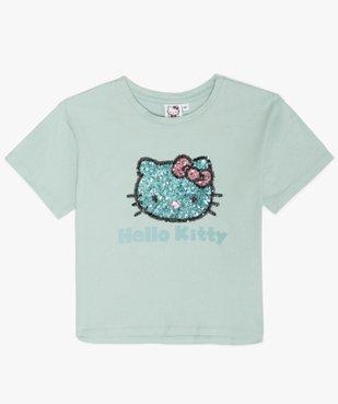 Tee-shirt court fille avec motif dessiné - Hello Kitty vue1 - HELLO KITTY - GEMO