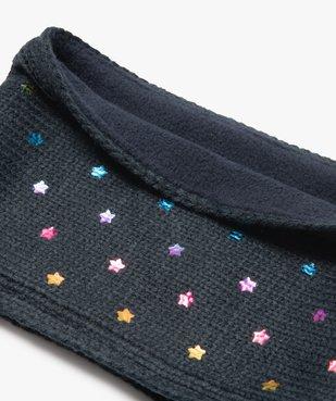 Écharpe snood bébé fille à étoiles irisées multicolores vue2 - GEMO(BEBE DEBT) - GEMO