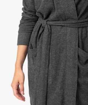 Veste d'intérieur femme en maille duveteuse avec ceinture à nouer vue2 - GEMO(HOMWR FEM) - GEMO