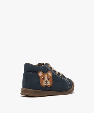 Chaussures premiers pas bébé garçon motif ourson vue4 - GEMO(BEBE DEBT) - GEMO