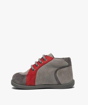 Chaussures premiers pas bébé garçon en cuir vue3 - GEMO(BEBE DEBT) - GEMO