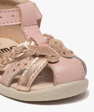 Sandales premiers pas bébé fille en cuir vue6 - Nikesneakers(BEBE DEBT) - Nikesneakers