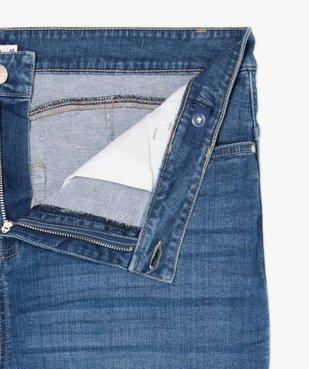 Jean femme coupe slim à faux plis vue5 - GEMO (G TAILLE) - GEMO