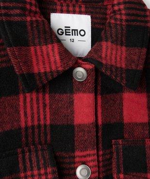 Veste fille façon chemise à carreaux vue3 - GEMO (JUNIOR) - GEMO
