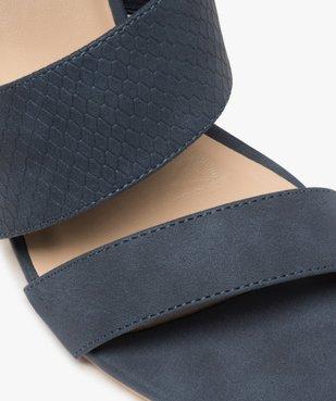 Sandales femme à talon rainuré et brides en suédine vue6 - GEMO(URBAIN) - GEMO