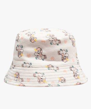 Chapeau bébé fille bob réversible vue1 - GEMO(BEBE DEBT) - GEMO