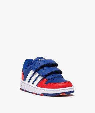 Baskets garçon multicolores à scratch – Adidas Hoops 2.0 vue2 - ADIDAS - Nikesneakers