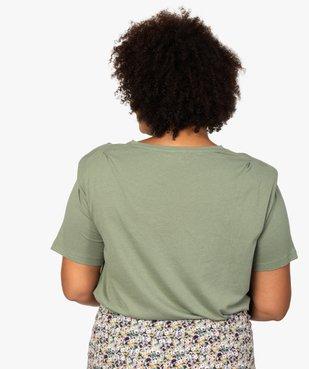 Tee-shirt femme imprimé avec petites épaulettes vue3 - GEMO (G TAILLE) - GEMO