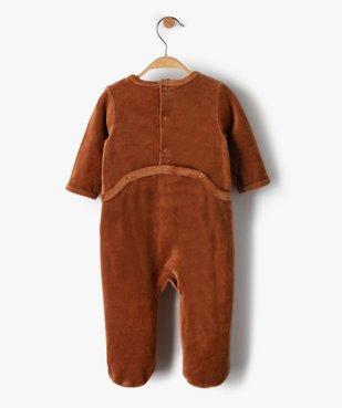 Pyjama bébé garçon en velours avec motif renard vue4 - GEMO(BB COUCHE) - GEMO