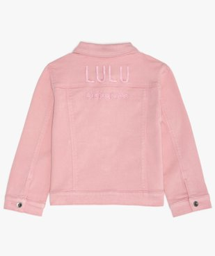 Veste fille en jean coloré - Lulu Castagnette vue4 - LULUCASTAGNETTE - GEMO