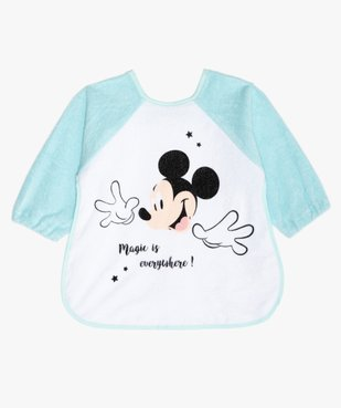 Bavoir bébé à manches longues en éponge imprimé Mickey - Disney vue1 - MICKEY - GEMO