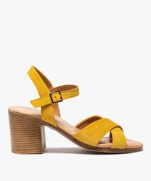 Sandales femme à talon carré coupe spéciale pied large vue1 - GEMO(URBAIN) - GEMO