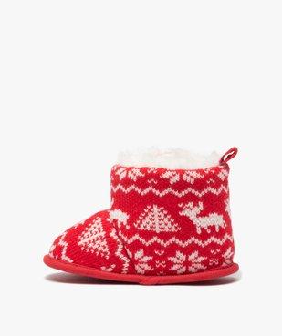 Chaussons de naissance bébé boots de Noël vue3 - GEMO(BB COUCHE) - GEMO