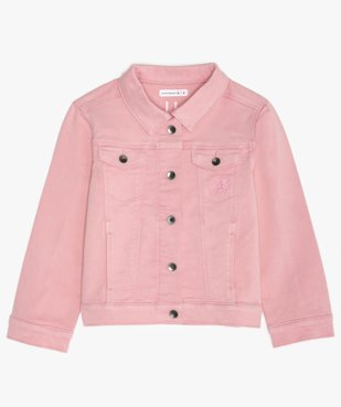 Veste fille en jean coloré - Lulu Castagnette vue1 - LULUCASTAGNETTE - GEMO