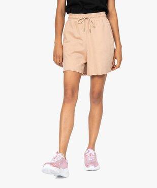 Short femme en maille ample à taille haute vue1 - GEMO(FEMME PAP) - GEMO
