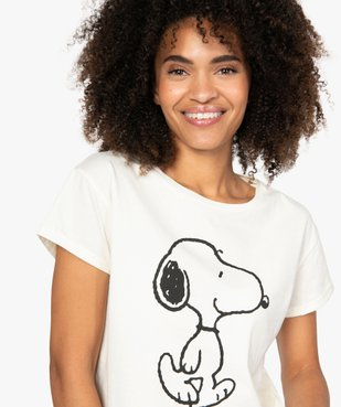 Tee-shirt femme oversize à motif Snoopy - Peanuts vue2 - SNOOPY - GEMO
