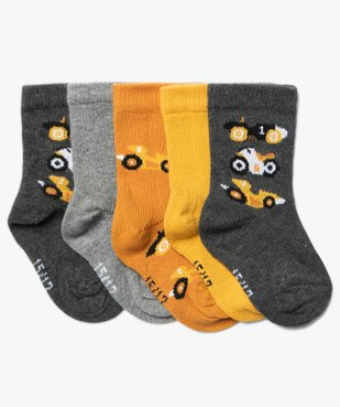 Chaussettes bébé avec imprimé bolides (lot de 5) vue1 - Nikesneakers C4G BEBE - Nikesneakers