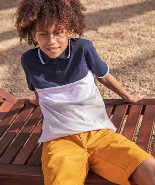 Polo garçon multicolore à manches courtes vue6 - GEMO (ENFANT) - GEMO