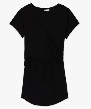 Tee-shirt de grossesse et allaitement cache-cœur vue4 - GEMO (MATER) - GEMO