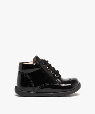 Chaussures premiers pas bébé fille à lacets dessus cuir verni vue1 - Nikesneakers(BEBE DEBT) - Nikesneakers