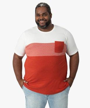 Tee-shirt homme tricolore avec poche poitrine vue1 - GEMO (G TAILLE) - GEMO