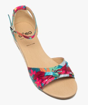 Sandales femme à petit talon compensé et dessus drapé vue5 - Nikesneakers (CASUAL) - Nikesneakers