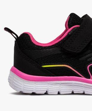 Baskets fille bicolores à lacets élastiques et scratch vue6 - Nikesneakers (ENFANT) - Nikesneakers