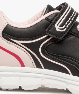 Baskets fille bicolores avec fermeture scratch vue6 - Nikesneakers (ENFANT) - Nikesneakers