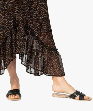 Jupe femme plissée longueur cheville avec volants dans le bas vue2 - Nikesneakers(FEMME PAP) - Nikesneakers
