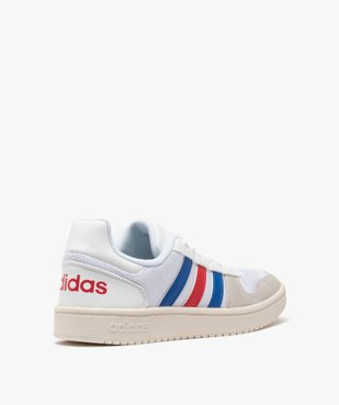 Tennis femme tricolores à lacets – Adidas Hoops 2.0 vue4 - ADIDAS - Nikesneakers