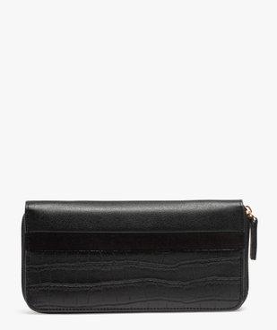 Portefeuille femme zippé multimatière vue1 - GEMO (ACCESS) - GEMO