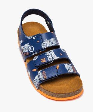 Sandales garçon imprimées à brides scratch vue5 - Nikesneakers (ENFANT) - Nikesneakers