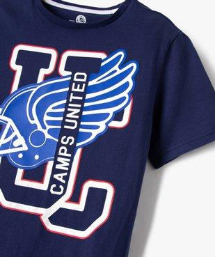 Tee-shirt garçon imprimé football américain - Camps vue2 - CAMPS UNITED - GEMO