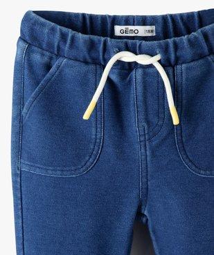 Pantalon bébé garçon en maille souple vue2 - Nikesneakers(BEBE DEBT) - Nikesneakers