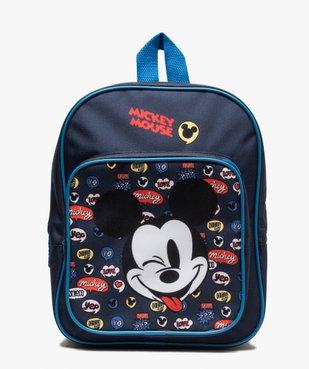 Sac à dos garçon zippé imprimé Mickey - Disney vue1 - MICKEY - GEMO