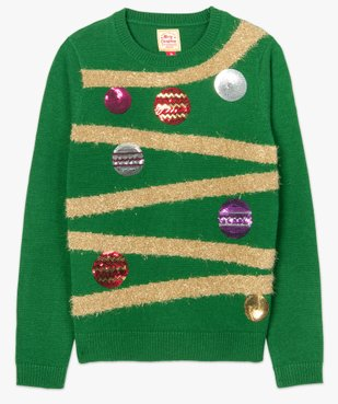 Pull de Noël femme à motifs guirlandes et boules décoratives vue4 - GEMO(FEMME PAP) - GEMO