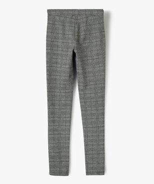 Pantalon fille en maille souple et ceinture élastiquée coupe slim vue3 - GEMO (JUNIOR) - GEMO