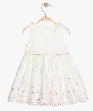Robe bébé fille avec bretelles nouées et motifs fleuris vue3 - GEMO (ENFANT) - GEMO