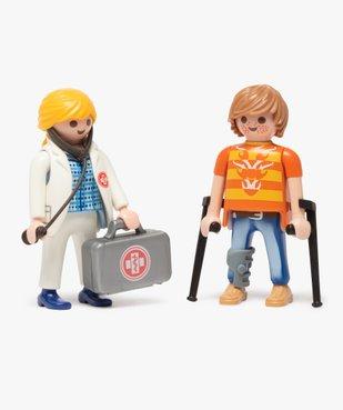 Jouet enfant Médecin et patient - Playmobil vue2 - DIVERS LICENCE - GEMO