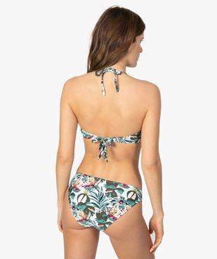 Haut de maillot de bain femme forme bandeau à armatures vue2 - GEMO (PLAGE) - GEMO