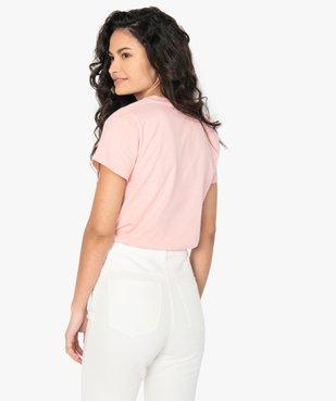 Tee-shirt femme à message fantaisie - GEMO x Les Vilaines filles vue3 - GEMO(FEMME PAP) - GEMO