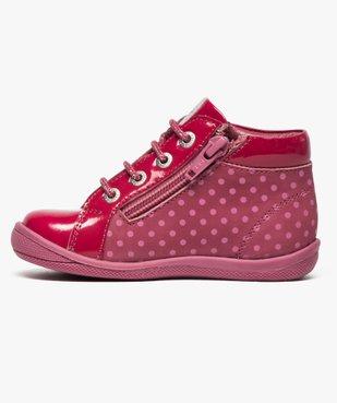 Chaussures montantes en cuir et cuir verni - Absorba vue3 - ABSORBA - GEMO