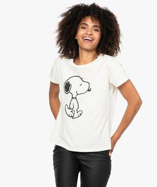 Tee-shirt femme oversize à motif Snoopy - Peanuts vue1 - SNOOPY - GEMO