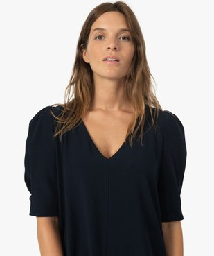 Robe femme forme trapèze à manches courtes vue2 - Nikesneakers(FEMME PAP) - Nikesneakers