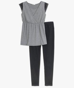 Pyjama de grossesse (2 pièces) : pantalon + top vue4 - GEMO (MATER) - GEMO