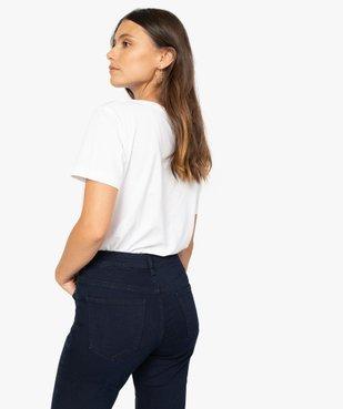 Tee-shirt femme à col V et manches courtes vue3 - GEMO(FEMME PAP) - GEMO